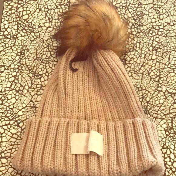 f6e1c5e5a79 NWT Calvin Klein Stylish Tan Hat